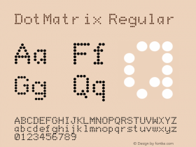 DotMatrix Regular Converted from F:\TTF\DOTMATRX.TF1 by ALLTYPE Font Sample