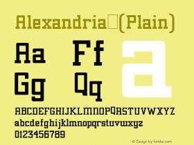 Alexandria (Plain) 001.001 Font Sample