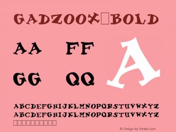 Gadzoox Bold Unknown Font Sample