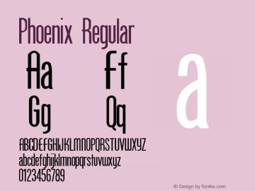 Phoenix Regular Altsys Metamorphosis:26.5.1992 Font Sample