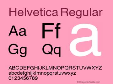 Helvetica Regular Altsys Metamorphosis:17/8/92 Font Sample