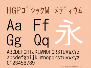 HGPゴシックM メディウム Ver.2.02 (c255-gmhp12-gmzp13-j0kei10-gmf14-gms14-gmn10-gme12-gmv̀Āᄄ图片样张