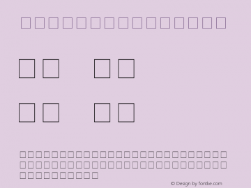 Omnibus Regular Unknown Font Sample