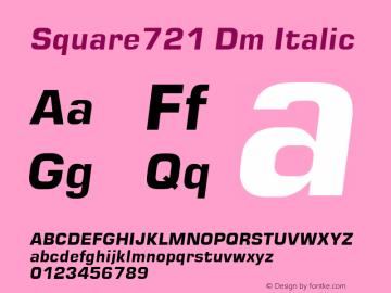 Square721 Dm Italic Unknown图片样张