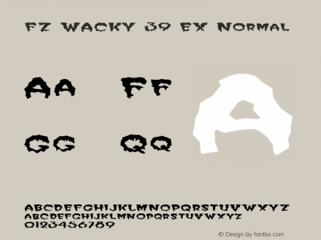 FZ WACKY 39 EX Normal 1.0 Fri Jan 28 13:48:27 1994 Font Sample