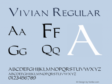 Vivian Regular Unknown图片样张