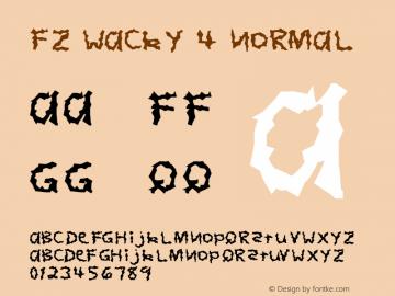 FZ WACKY 4 Normal 1.000 Font Sample