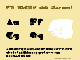 FZ WACKY 40 Normal 1.000 Font Sample
