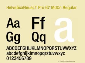 HelveticaNeueLT Pro 67 MdCn Regular Version 1.000;PS 001.000;Core 1.0.38图片样张