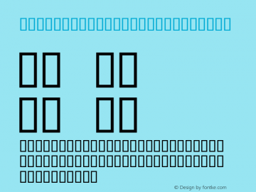 Retroket Alphabet Regular Macromedia Fontographer 4.1J 01.12.25图片样张