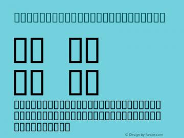 Day Dream TrainK Regular Macromedia Fontographer 4.1J 01.8.21 Font Sample