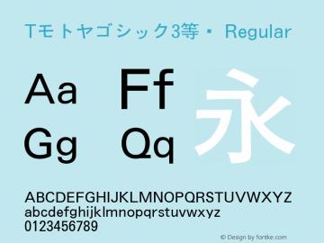 Tモトヤゴシック3等幅 Regular Version T-2.10 Font Sample