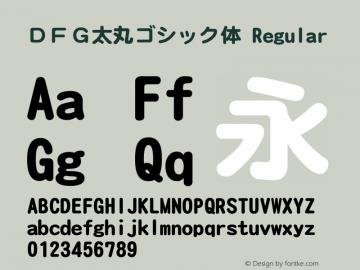 DFG太丸ゴシック体 Regular Version 2.00 Font Sample