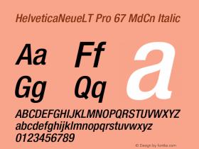 HelveticaNeueLT Pro 67 MdCn Italic Version 1.000;PS 001.000;Core 1.0.38图片样张
