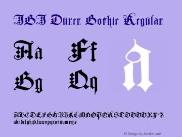 JGJ Durer Gothic Regular Macromedia Fontographer 4.1 6/14/97图片样张