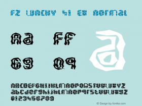 FZ WACKY 41 EX Normal 1.0 Thu May 05 17:03:55 1994 Font Sample