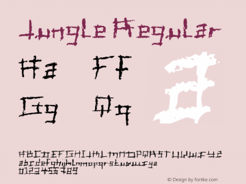 Jungle Regular Macromedia Fontographer 4.1.5 25/01/02 Font Sample