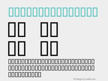 Stencil Regular Macromedia Fontographer 4.1 2004-04-20 Font Sample