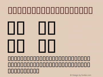 seriousr2b Regular 2001; 1.0, initial release Font Sample