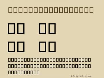 serious2b Regular 2001; 1.0, initial release Font Sample