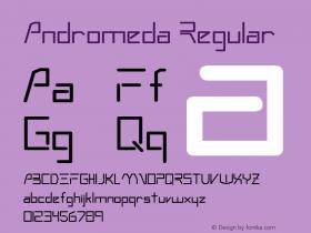 Andromeda Regular Altsys Metamorphosis:6-07-92 Font Sample