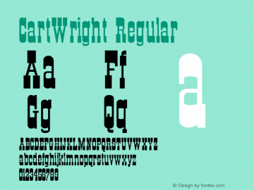 CartWright Regular Altsys Metamorphosis:6-07-92 Font Sample