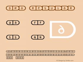 Dna Regular Macromedia Fontographer 4.1.2 29.04.1998图片样张