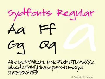 Sydfonts Regular 2009; 1.0, initial release图片样张
