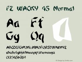 FZ WACKY 45 Normal 1.000 Font Sample