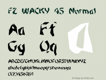 FZ WACKY 45 Normal 1.000 Font Sample