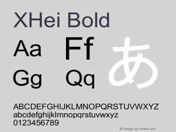XHei Bold Unknown Font Sample