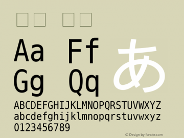 宋体 粗体 Unknown Font Sample