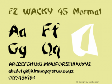 FZ WACKY 45 Normal 1.0 Sun Jan 30 15:54:14 1994 Font Sample