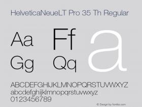 HelveticaNeueLT Pro 35 Th Regular Version 1.000;PS 001.000;Core 1.0.38图片样张