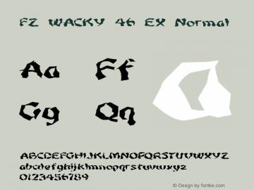 FZ WACKY 46 EX Normal 1.000 Font Sample