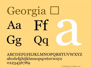 Georgia ☞ Version 1.00;com.myfonts.ascender.georgia.regular.wfkit2.gg8C图片样张