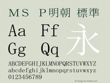 MS P明朝 標準 Version 5.01图片样张