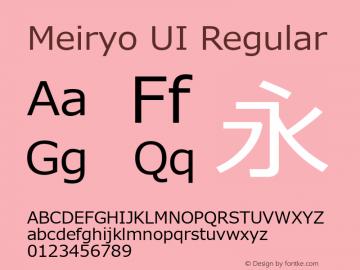 Meiryo UI Regular Version 6.02 Font Sample