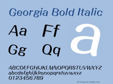 Georgia Bold Italic Version 5.00x-4图片样张