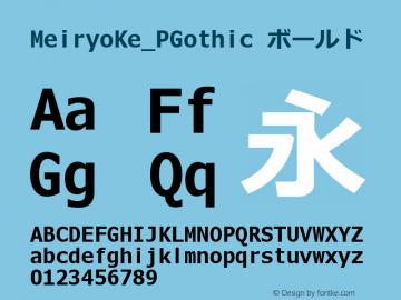 MeiryoKe_PGothic ボールド Version 5.00+ rev1 Font Sample