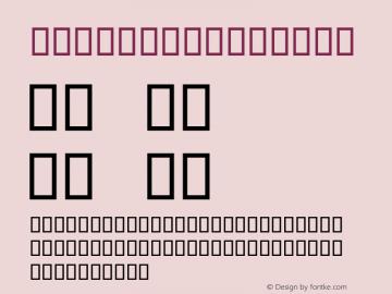 Melissa Regular Macromedia Fontographer 4.1J 08.2.12 Font Sample