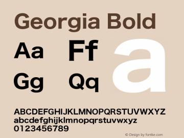 Georgia Bold Version 5.00x-4图片样张