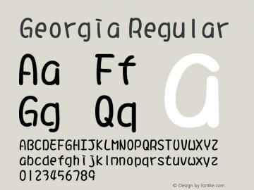 Georgia Regular Version 5.00x-4图片样张
