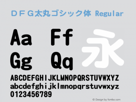 DFG太丸ゴシック体 Regular Version 3.100 Font Sample