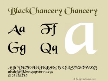 BlackChancery Chancery 001.001 Font Sample