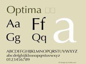Optima 粗体 6.1d4e1 Font Sample