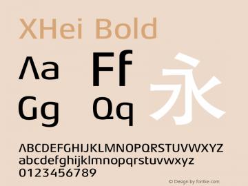 XHei Bold 1.00 Font Sample