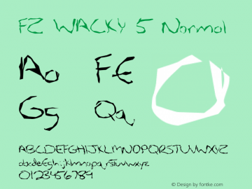 FZ WACKY 5 Normal 1.000 Font Sample