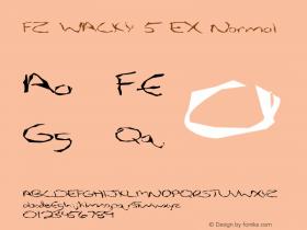 FZ WACKY 5 EX Normal 1.000 Font Sample