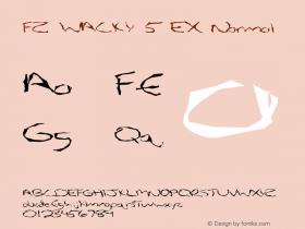 FZ WACKY 5 EX Normal 1.0 Tue Feb 01 12:26:59 1994 Font Sample